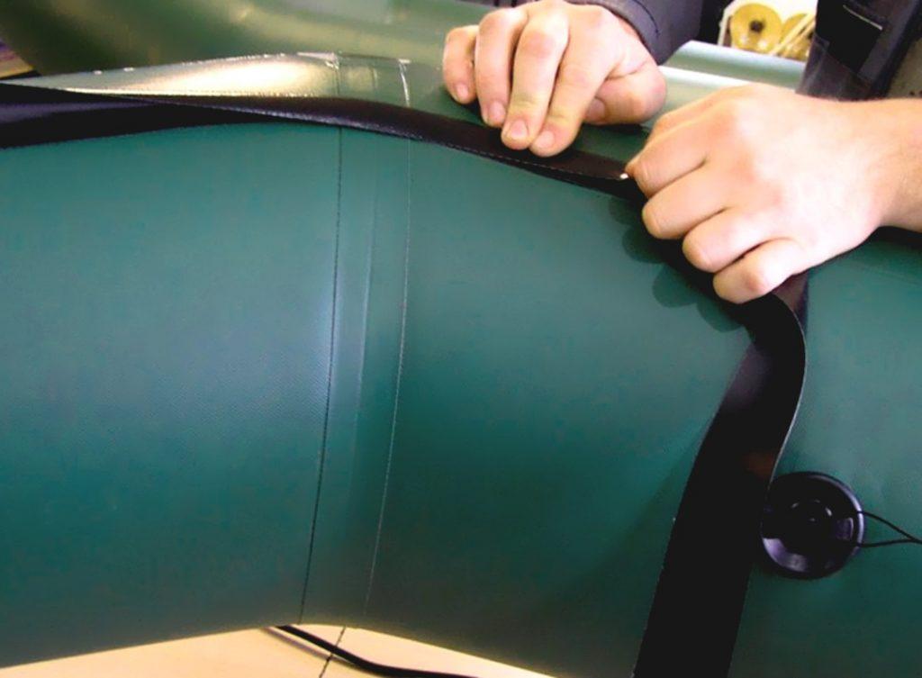 ремонт и восстановление швов лодки пвх проклейка шва в лодке