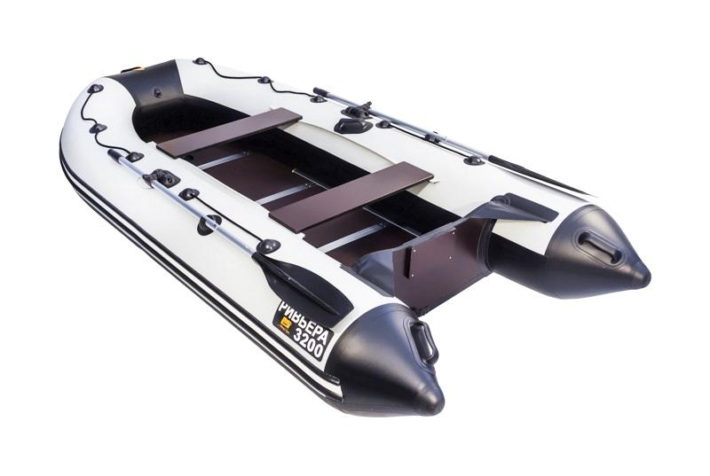 Лодка ПВХ Ривьера 3200 СК надувная под мотор комби для рейтинга лодок